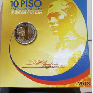10 piso  andres bonifacio commemoratives coins