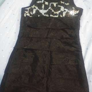 Black sequen dress w/ lace