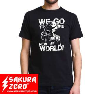 one piece we go to the new world anime t shirt