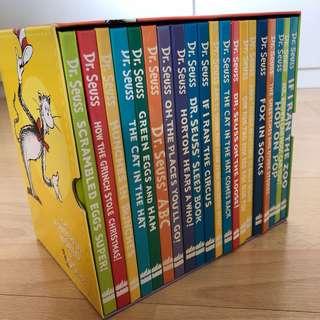 Dr Seuss Box Set (20 hardcover books, compact size)
