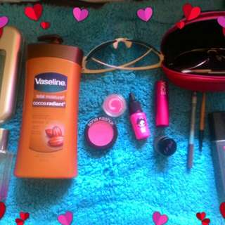 Authentic and preloved make up.lotion,sunglasses,body spray