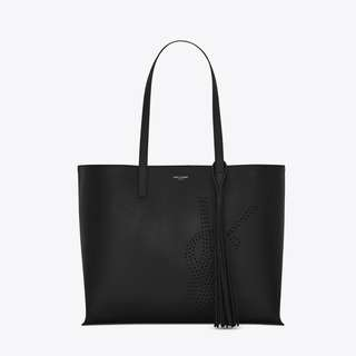 Saint Laurent TOTE BAG WITH PERFORATED YSL INITIALS