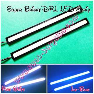 Universal Super Bright White Ice-Blue Exterior Car Day Running Light DRL LED COB Panel Strip Bar