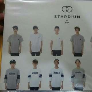EXO Stardium 衣服 大卡 明信片