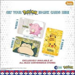 Pokemon Asia complete set Ez link cards (set of 3)