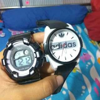 Take All 50rb / jam tangan q&q preloved / jam tangan adidas / jam tangan wanita preloved / jam tangan pria