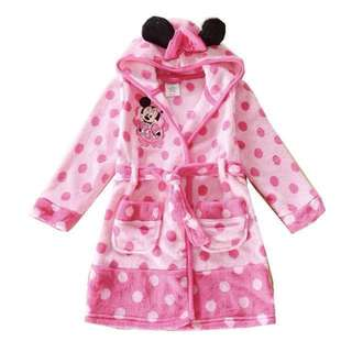 [CNY Sale]Minnie Mouse Hooded Polka Dots Swim/Beach Bathrobe