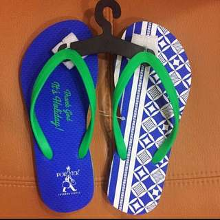 Brand New Porter International Slippers Sandals made in Taiwan