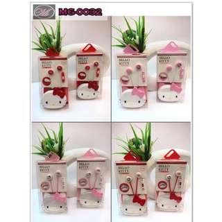 CODE: MG-0032 Cute Lovely Hello Kitty Earphones 01