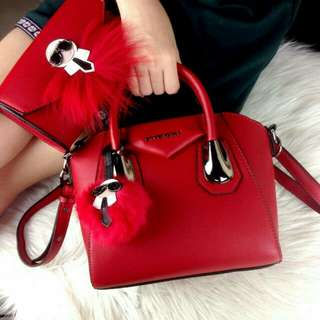 Givenchy Antigona Karlito Red