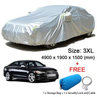 (Size 3XL) Sedan Car Cover Rain, Dust Resistant, Weather, Sunlight Protection