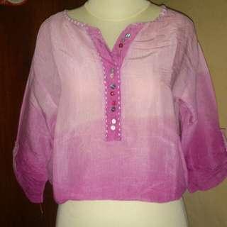 Ombre pink top