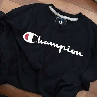 🆕 INSP CHAMPION Black Oversized Tee