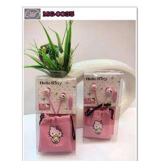 CODE: MG-0035 Cute Lovely Hello Kitty Earphones 04