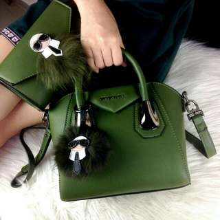 Givenchy Antigona Karlito Green