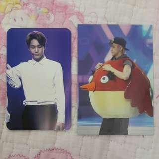 WTS/WTT EXO KAI KNOCK OFFICIAL FANSITE PHOTOCARD & EXO SEHUN OFFICIAL FANSITE PHOTOCARD