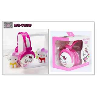 CODE: MG-0036 Hello Kitty Headphones with Mic
