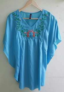 Blouse Batwing Sleeves