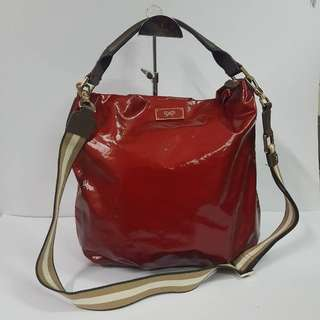 AUTHENTIC ANYA HINDMARCH G'LINE 2WAYS HANDBAG MADE IN JAPAN VERY GOOD CONDITION RM8XX COD KOTA BHARU