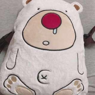 白熊後背包/暖枕毯/毛毯/棉被