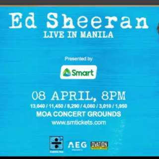 ED SHEERAN: Divide World Tour (Patron C)