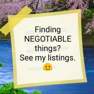 Finding negotiable things ?
