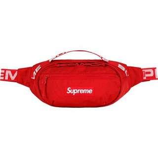 SS18 Supreme Waist Bag RED