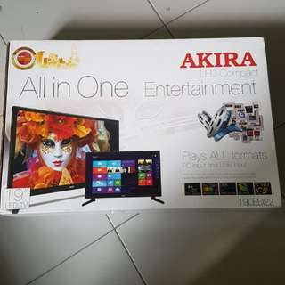 "19"" AKIRA all-in-one LED TV with PC and USB input"