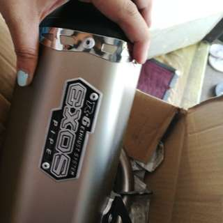 EXOS R6 Silencer w/ stainless pipe
