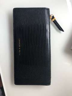 Charles and Keith black wallet