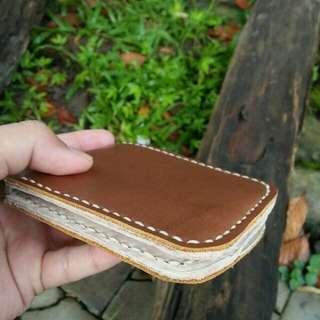 Dompet Pria Kulit PU asli Handmade
