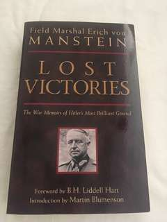 Field marshal erich von manstein(lost victories)