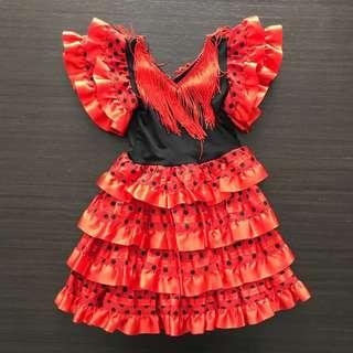 Baby Girls Flamenco Spanish Dress 12-18M size