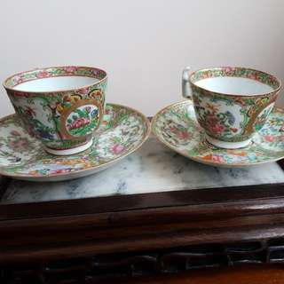 A pair of old Chinese teacup