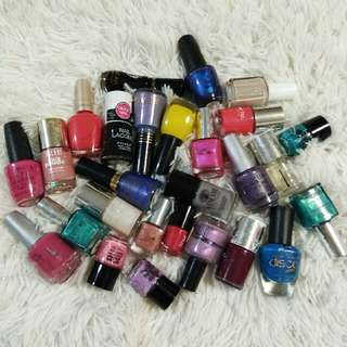 assorted branded nail polish