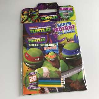 Ninja Turtles activity pack - colouring, activity and colouring pencils
