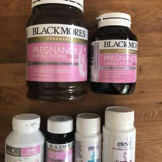 Blackmores pregnancy and breastfeeding multi vitamins x two bottles(other assorted vitamins x4 free)