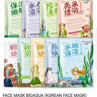 BIOAQUA FACE MASKS