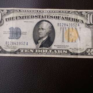 美金10元1934年