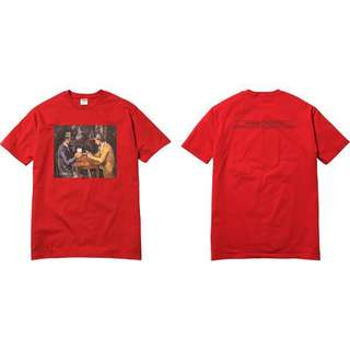 SS18 Supreme Cards Tee RED M