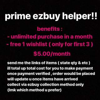 ezbuy prime helper!!