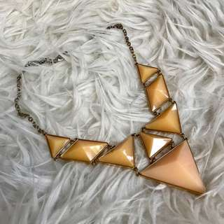 Beige Triangle Necklace