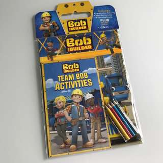 Bod the Builders activity pack - colouring, activities and colouring pencils