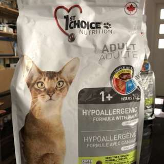 1st choice nutrition, Hypoallergenic duck formula, Cat Food
