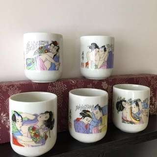 Japanes Love painting cups