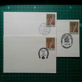[均一價$10]1981 澳州 紀念戳郵資封