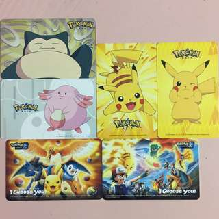 Limited Edition brand new Pokemon Asia Pikachu , Chansey And Snorlax Designs ezlink Cards - All 6 Cards for $99.