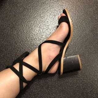 TOPSHOP tie up heels