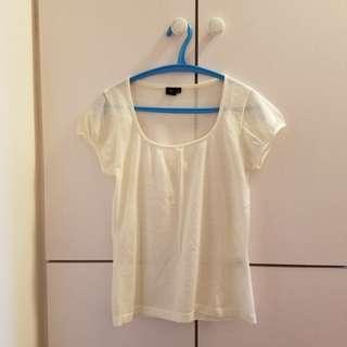U2女裝針織上衣 (米白色)