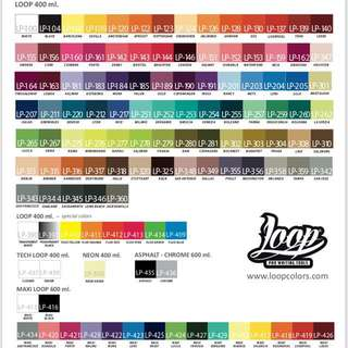 Loopcolors Spray Paint (Updated Colour Charts)